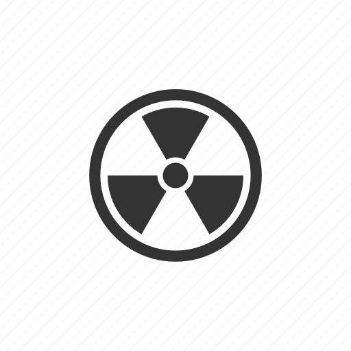 atomic, caution, energy, hazard, illustration, nuclear, power, protection, radiation, science, sign, uranium icon