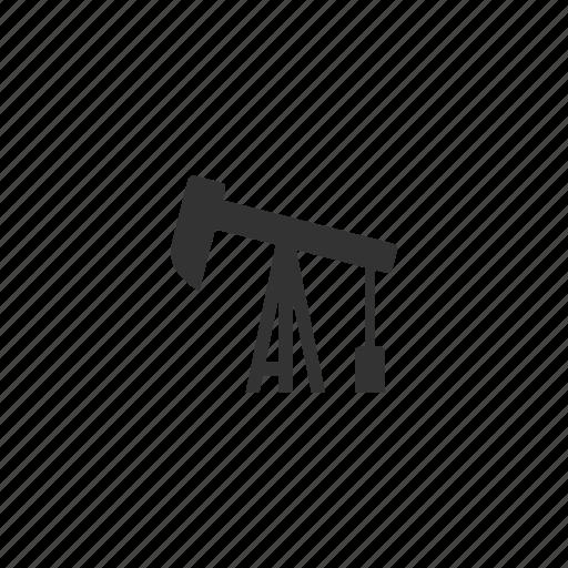 collect, drill, fuel, illustration, mine, oil, plant, pump, resource icon