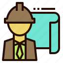 engineer, foreman, geologist, tenichian icon