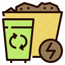 alternative, energy, power, waste icon