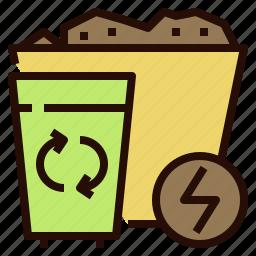 alternative, energy, power, waste icon