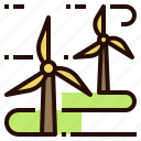 clean, energy, farm, power, wind, windmill icon
