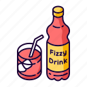 fizzy drink, fizzy drink icon, iced beverage, soft drink icon