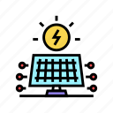 power, solar, electrical, panel, fuel, electricity icon