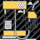 car, carbon levels, gas station, gasoline, global warming, oil, petrol