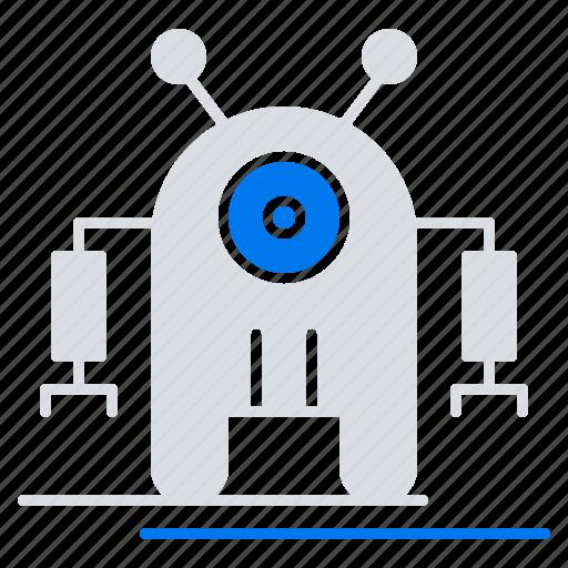 human, robot, robotic, technology icon