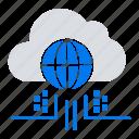 cloud, internet, technology, think