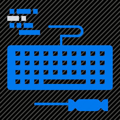 hardware, key, keyboard, repair icon