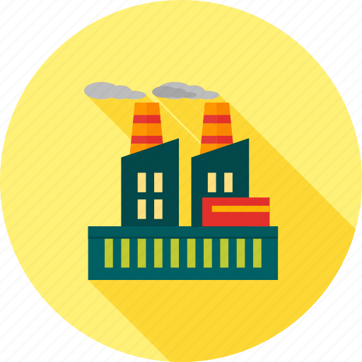 building, energy, factory, industry, plant, power, production icon