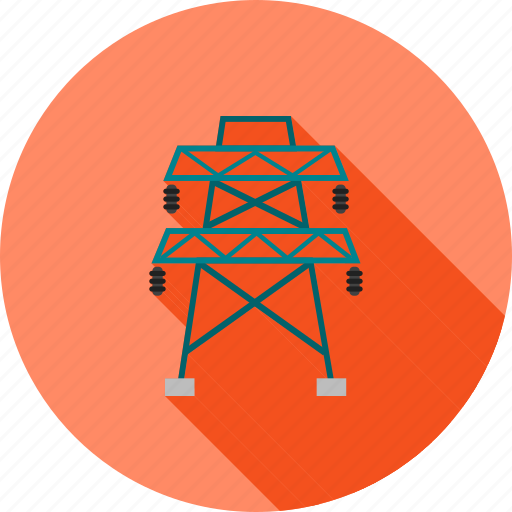 cables, electric, electricity, energy, power, tower, wiring icon