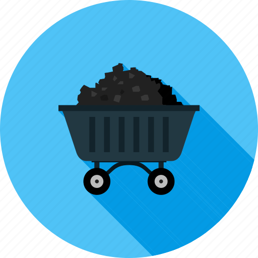 carrier, coal, energy, industry, mine, power, trolley icon