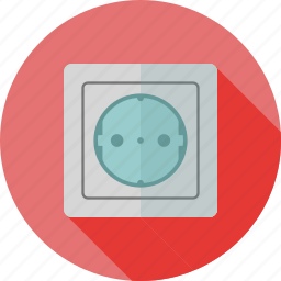 electric, energy, outlet, plug, power, socket, supply icon