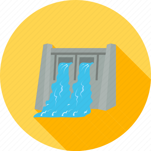 dam, electricity generation, energy, hydro, hydro electric, power, water icon