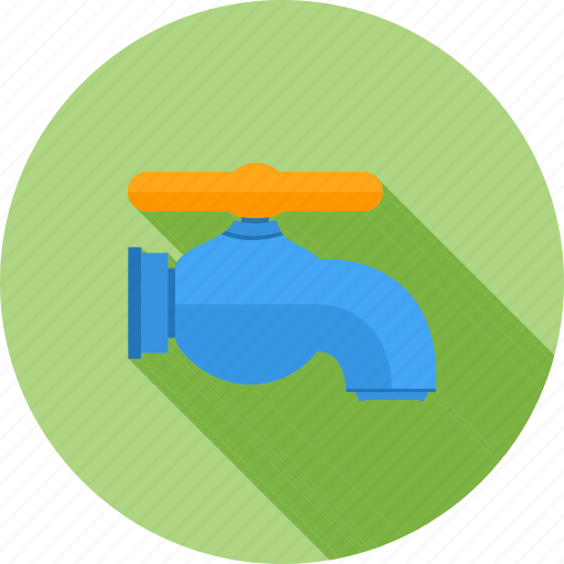 faucet, flow, liquid, pipe, tap, water, water tap icon