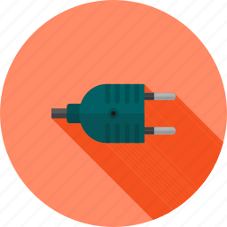 cable, connector, electric, energy, plug, two pin, wire icon