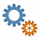 factory, gear, industry, metal, work icon