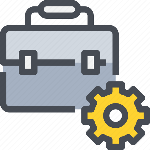 business, construction, engineering, gear, management, process icon