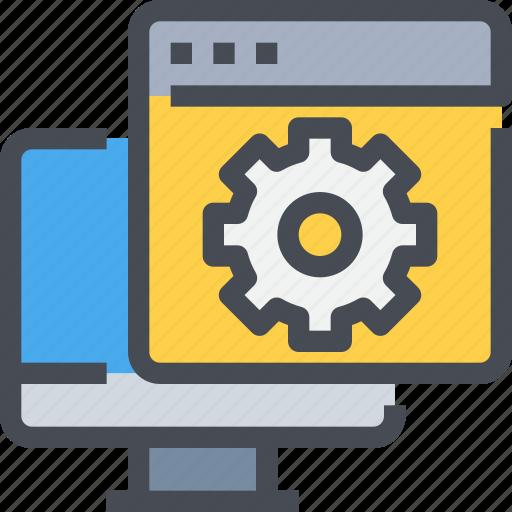 configuration, develop, development, gear, process, setting icon