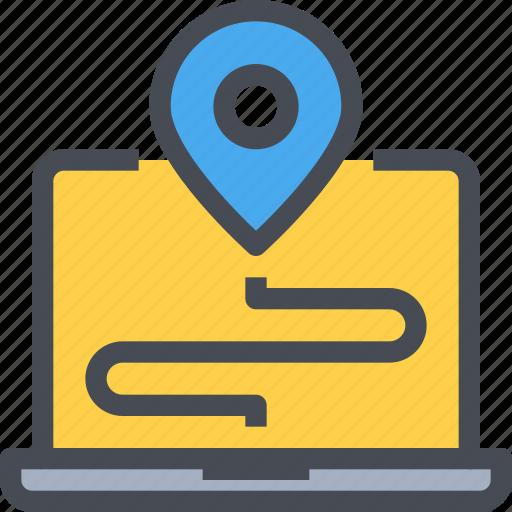 computer, gps, location, map, navigation icon