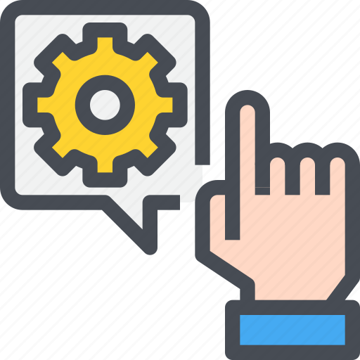 command, hand, management, process, terminal icon