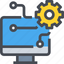 computer, engineer, management, mechanic, process icon