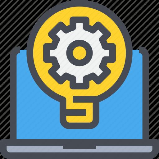 computer, creative, idea, innovation, light, process icon