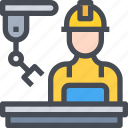 construction, engineer, factory, robot, worker icon