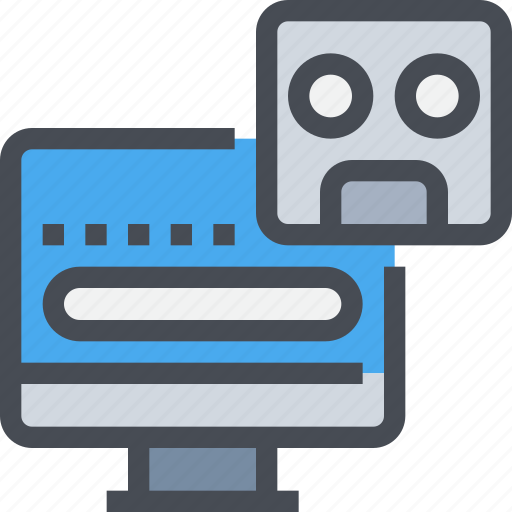 artificial, computer, intelligence, robot icon