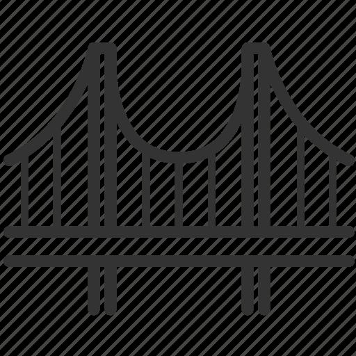 bridge, build, construction, engineer, engineering, suspension bridge icon