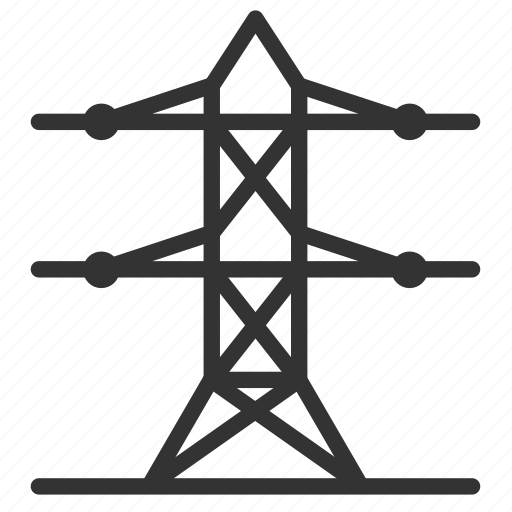 electric, electricity, engineering, high voltage, pole, tower icon