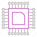 device, electronics, engineering, processor icon