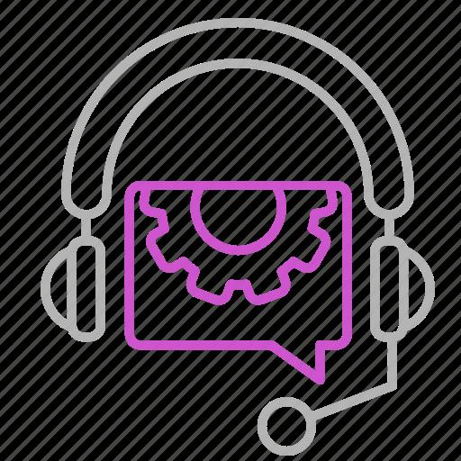engineering, headphone, help, tech icon