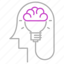 brain, engineering, head, idea, thinking icon