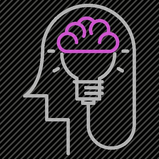 brain, engineering, head, idea, thinking icon