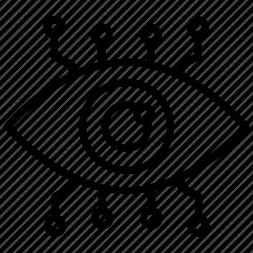 Cyber eye, cybernetics, digital eye, monitoring, robotic eye icon - Download on Iconfinder