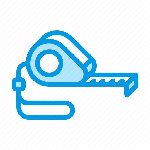 engineering, measure, measurement, tape icon