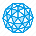 dome, geodesic icon