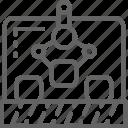 conveyor, engineering, manipulator, production, robotic icon