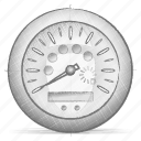 dashboard, engineering, hand drawn, sketch icon