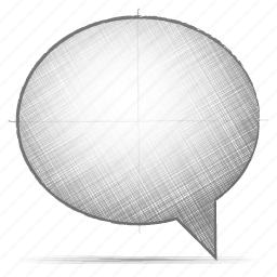 comment, engineering, hand drawn, sketch icon