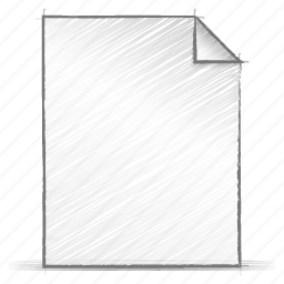 document, engineering, hand drawn, sketch icon