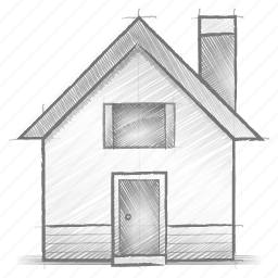 engineering, hand drawn, home, sketch icon