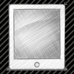 engineering, hand drawn, ipad, sketch icon