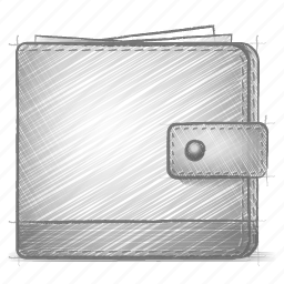 engineering, hand drawn, sketch, wallet icon