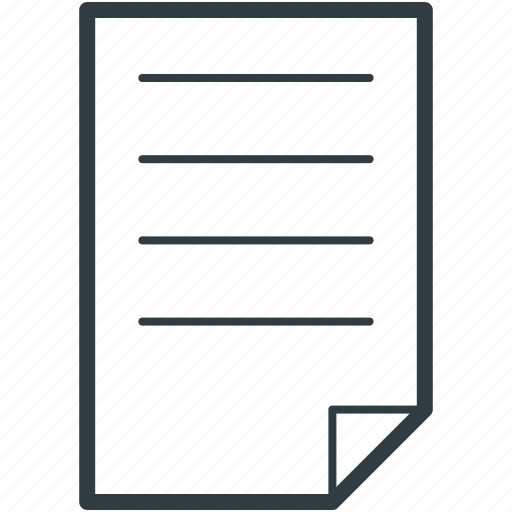 contract, document, letter, note, text sheet icon