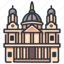 architecture, cathedral, church, england, london, st, travel icon