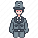 cop, law, officer, police, protection, security, uniform icon
