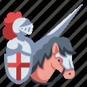 armor, history, horse, horseback, knight, medieval, warrior icon
