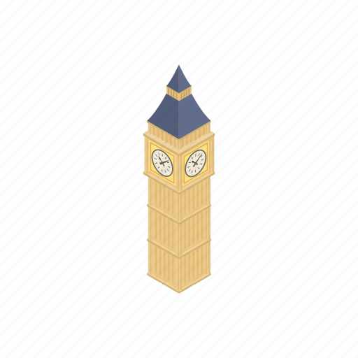 ben, big, building, england, isometric, landmark, london icon