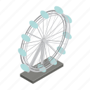 architecture, city, isometric, landmark, london, tourism, wheel icon